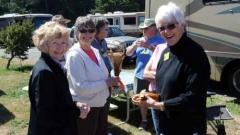 Carole, Nancy and Joann and kelp creations