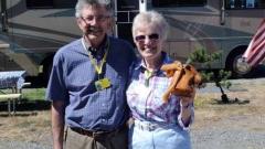 Ken & Judy and her kelp basket