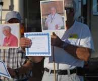 Steve Presents Award to Al Zimmerman by Proxy (held by Dean)