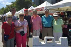 Sue, Helen, Harry, Dick, Lizz, Stan & Barb at Farmers Market