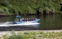 Trek group on the Chinook jet boat